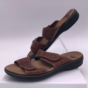 Clarks Leather Sandals Women's Size 9.5 Brown/Tan
